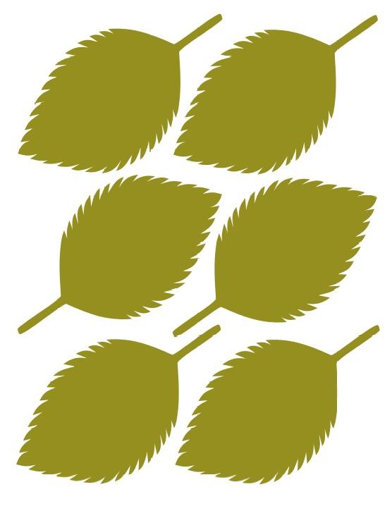 Гортензия из бумаги-шаблон 5