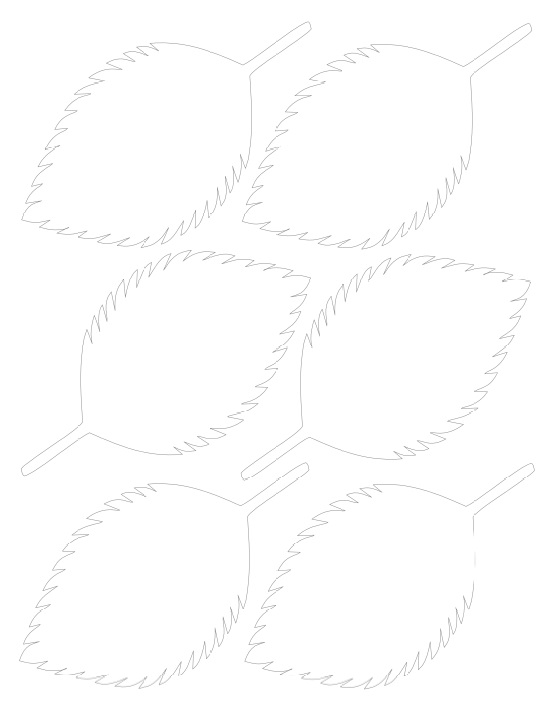 Гортензия из бумаги-шаблон 6