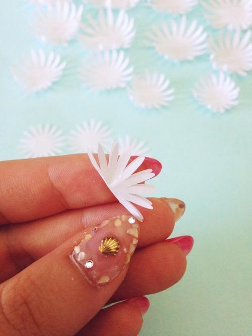 Хризантемы из бумаги-делаем серединку