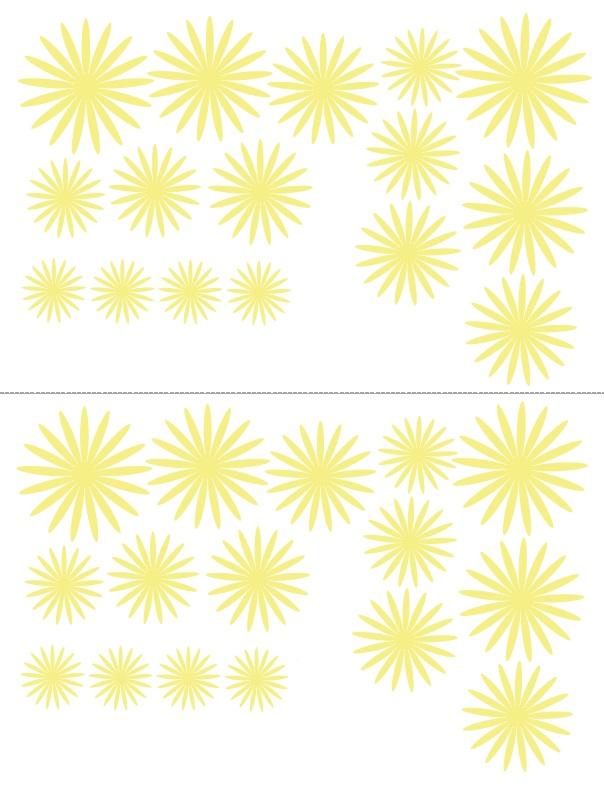 Хризантемы-шаблон