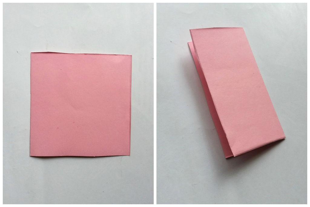 Камелии из бумаги-складываем бумагу