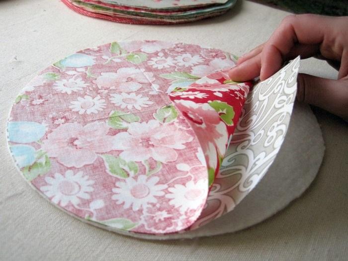заготовка для коврика из лоскутков