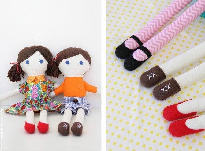 Кукла из лоскутков-11