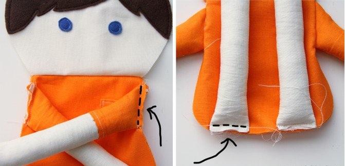 Кукла из лоскутков-16
