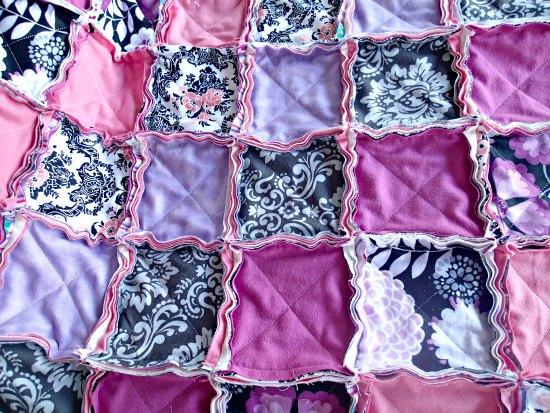 Лоскутное фланелевое одеяло-11