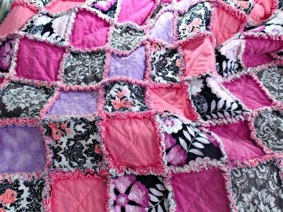 Лоскутное фланелевое одеяло-14