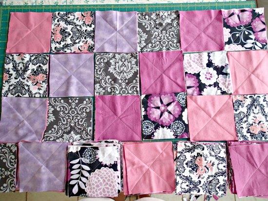 Лоскутное фланелевое одеяло-8