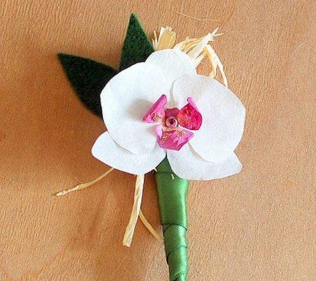орхидея из бумаги своими руками