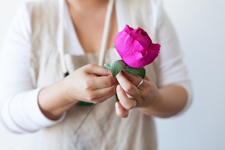 Пионы из бумаги-собираем цветок