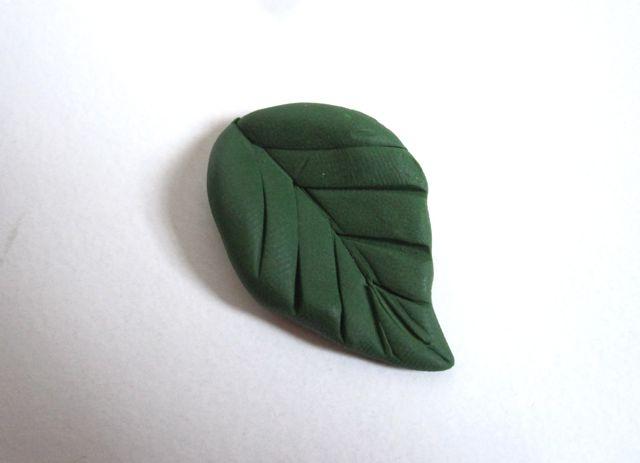 Подсолнухи из полимерной глины-листик