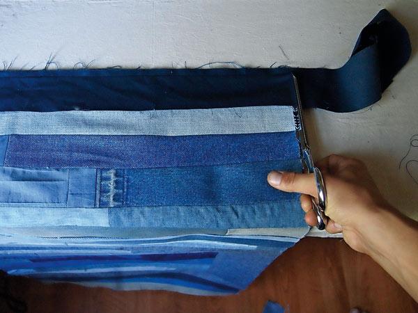 Покрывало из джинсов-6