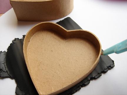 Шкатулка из полимерной глины-вырежьте глину