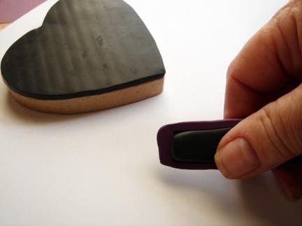 Шкатулка из полимерной глины-придавите глину