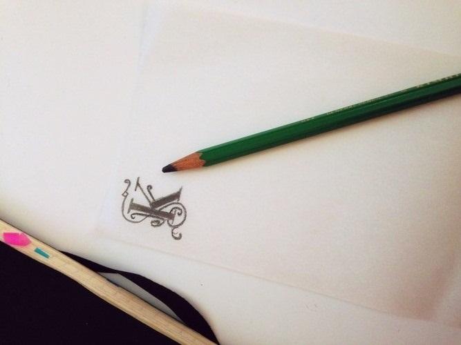 Штампы для скрапбукинга-рисунок на кальке