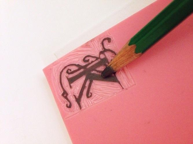 Штампы для скрапбукинга-наводим рисунок