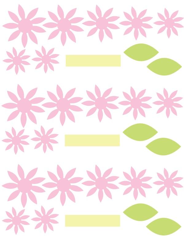 Водяные лилии-шаблон