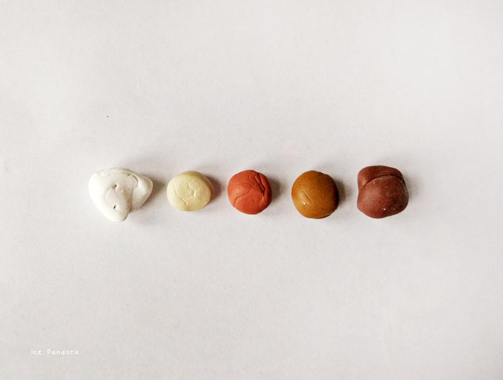 Брошь из полимерной глины-оттенки глины