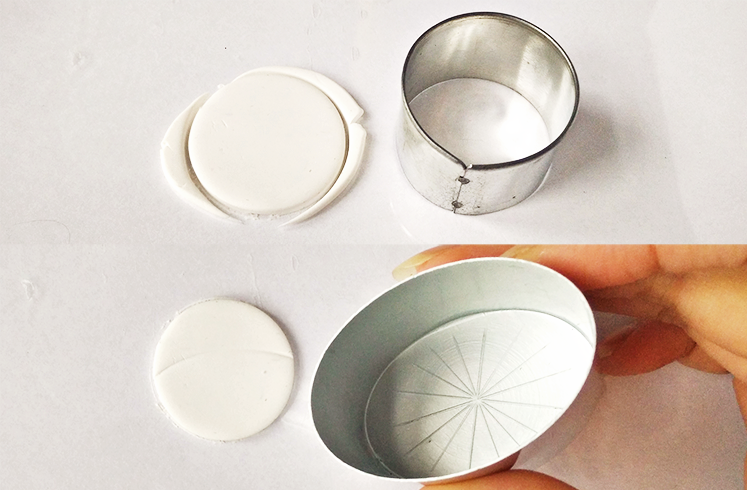 Брошь из полимерной глины-сделайте круг
