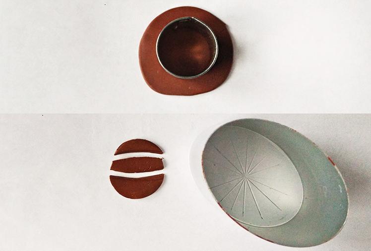 Брошь из полимерной глины-сделайте серединку
