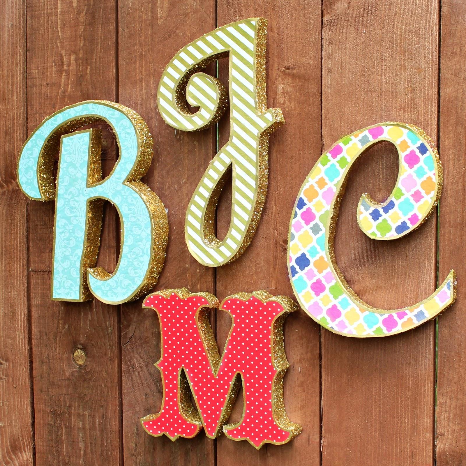 Как сделать буквы а в них