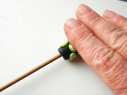 Бусины миллефиори-раскатайте бочонок с ломтиками