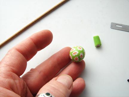 Бусины миллефиори-сформируйте бусину