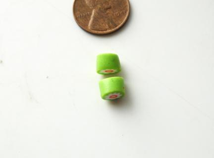 Бусины миллефиори-нарежьте толстые ломтики