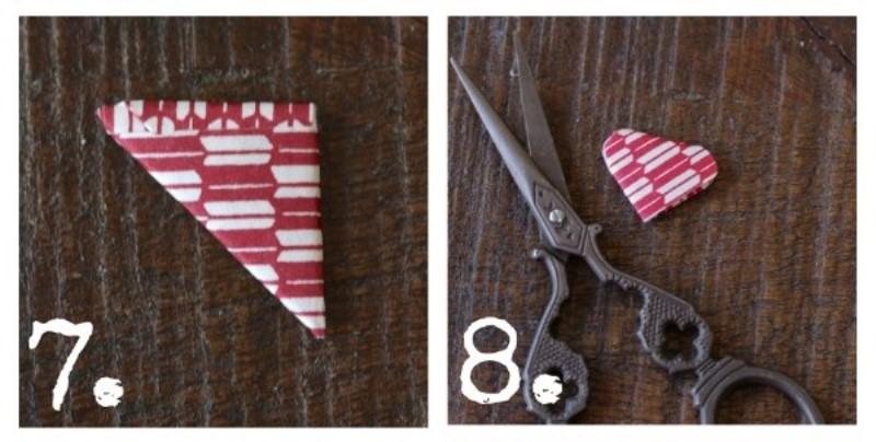 Гирлянда с сердечками-обрежьте острые края полукругом