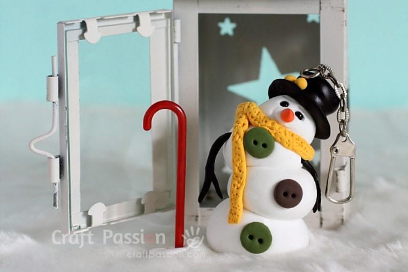 Как сделать снеговика из полимерной глины своими руками