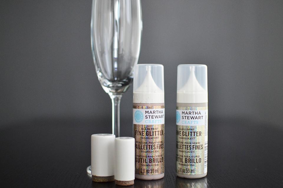 Как украсить бокалы-материалы