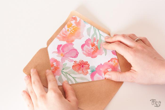 Конверт на свадьбу-вклейте принт в конверт