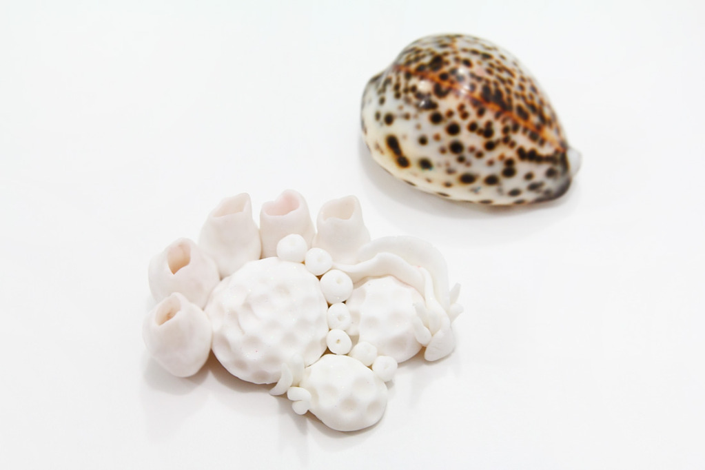 Коралл из полимерной глины-отправьте на обжиг