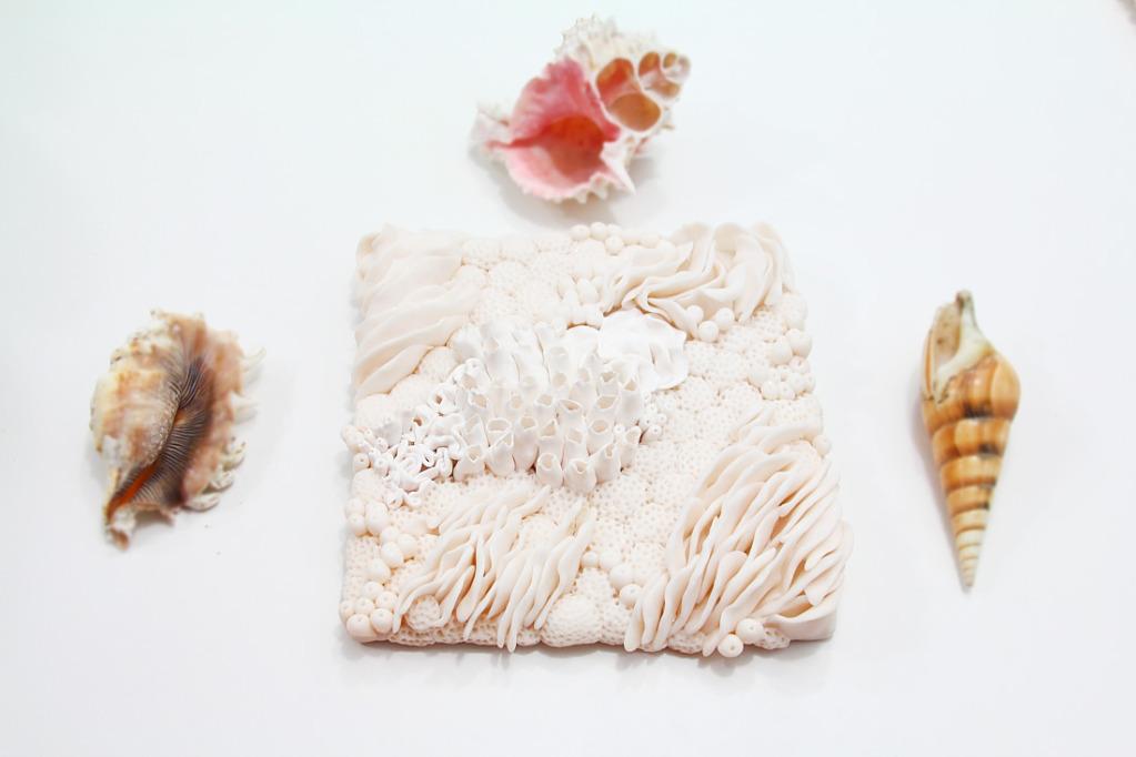 Коралл из полимерной глины-композиция с водорослями