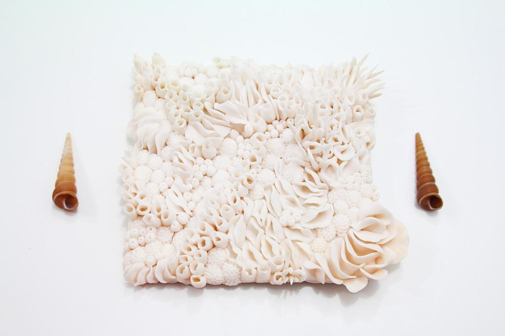 Коралл из полимерной глины-объемная композиция