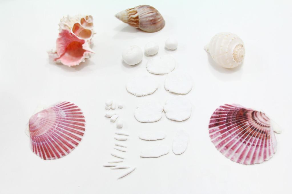Коралл из полимерной глины-сделайте заготовки