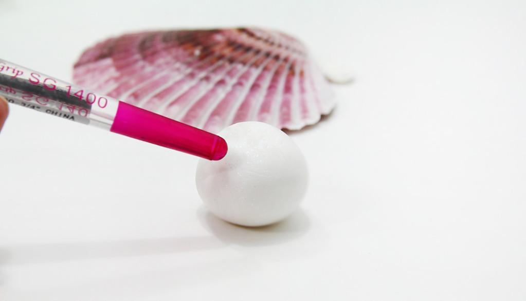 Коралл из полимерной глины-возьмите шарик
