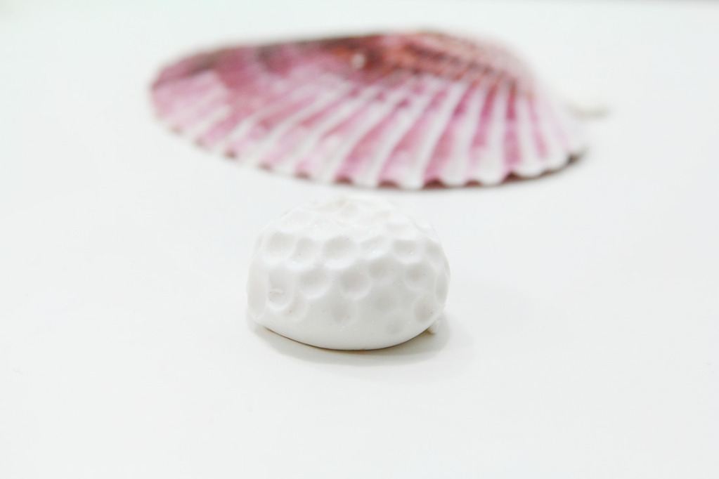 Коралл из полимерной глины-проставьте углубления
