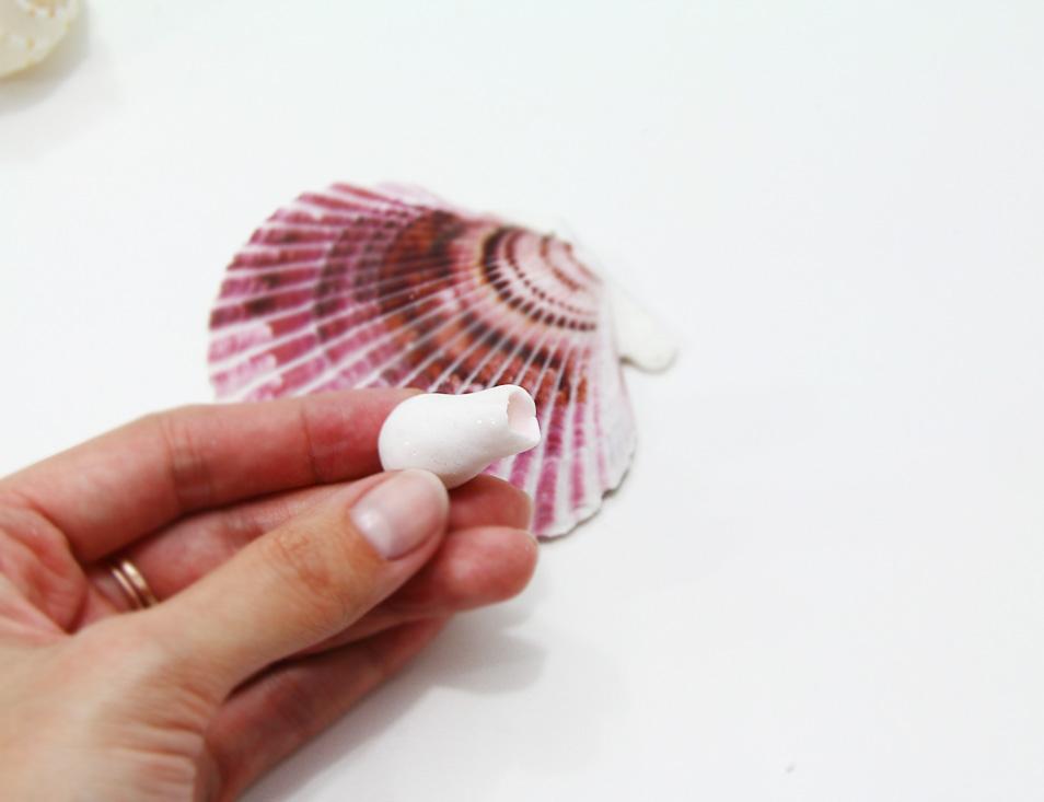 Коралл из полимерной глины-снимите заготовку с наконечника