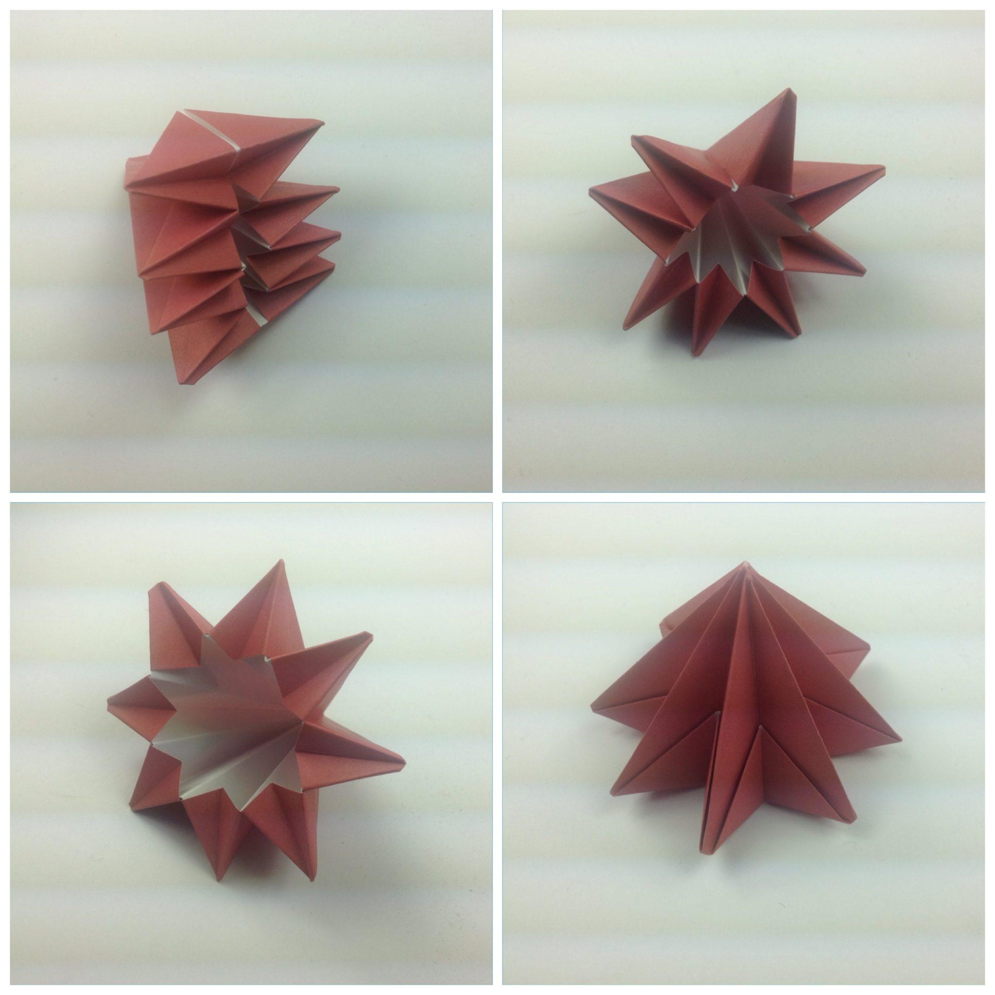 Мобиль оригами-расправьте кристалл