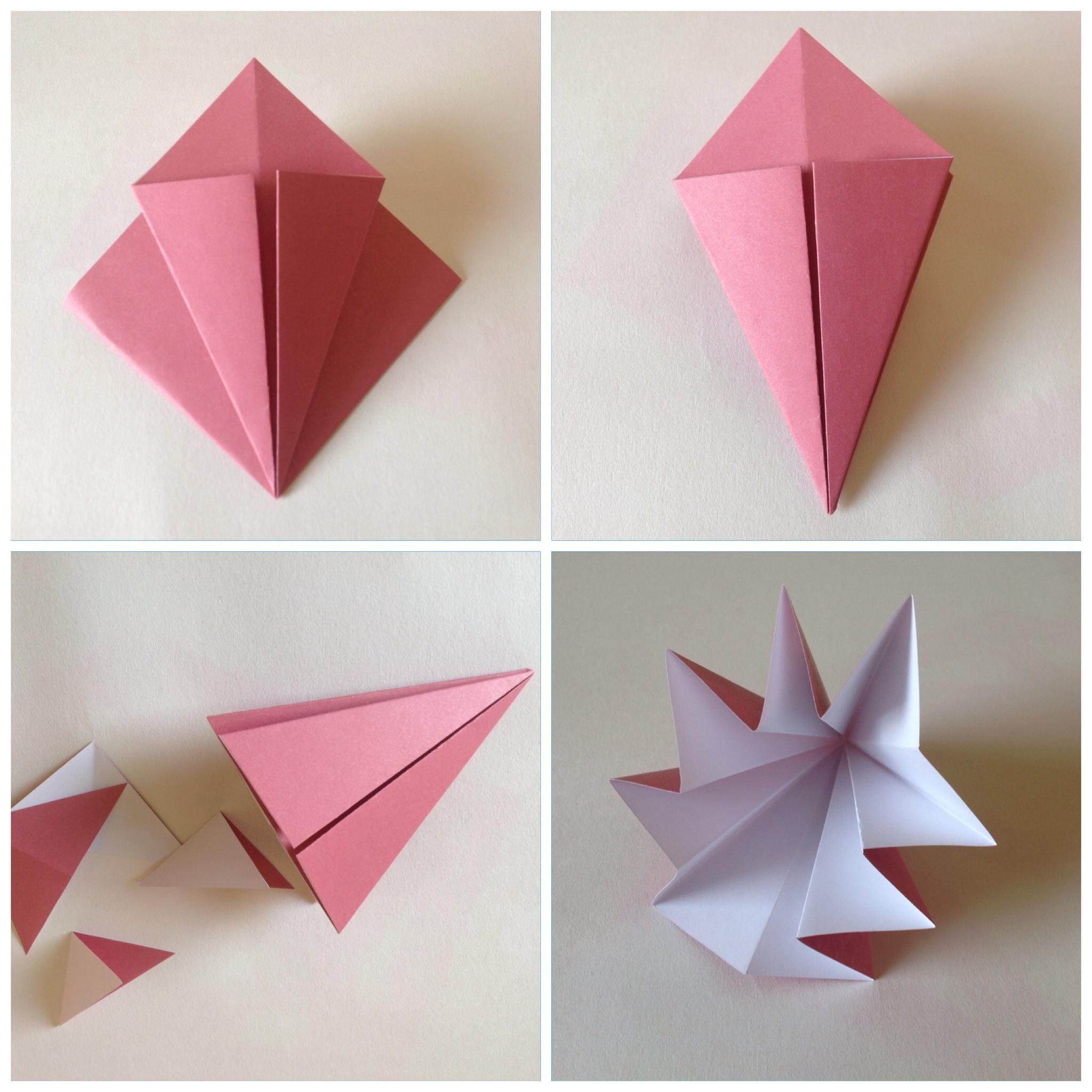 Мобиль оригами-обрежьте нижний край