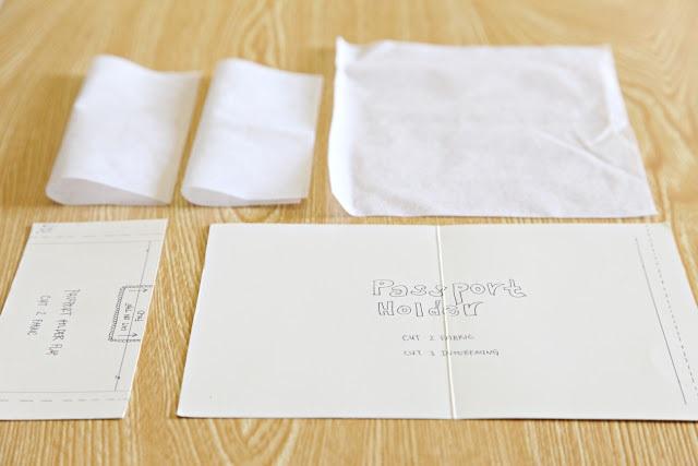 Детали из клеевого материала для обложки на паспорт