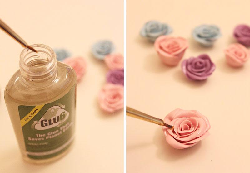 Ободок с розами-покройте лаком