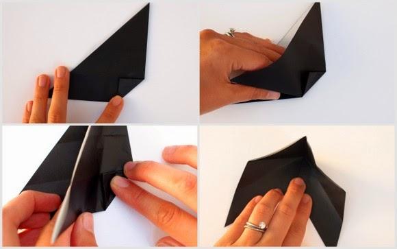 Оригами кошка-разверните поделку