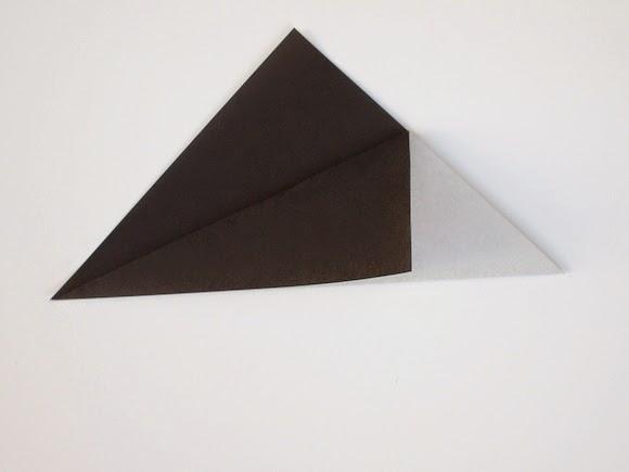 Оригами кошка-загните угол