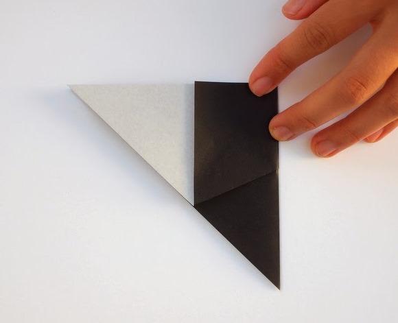 Оригами кошка-сложите поделку вдвое