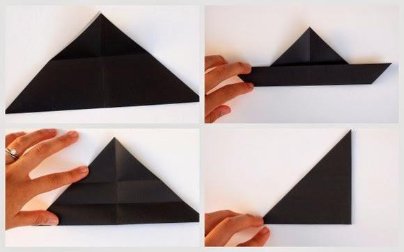 Оригами кошка-сложите бумагу