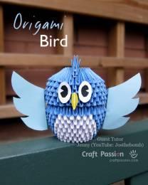 Оригами сова из модулей своими руками