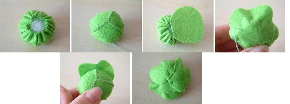 Овощи из фетра: капуста