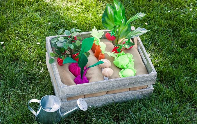Грядка для овощей из фетра