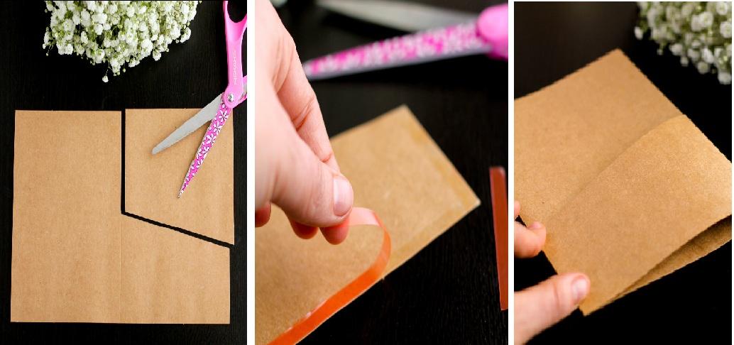 делаем конверт для свадебного пригласительного